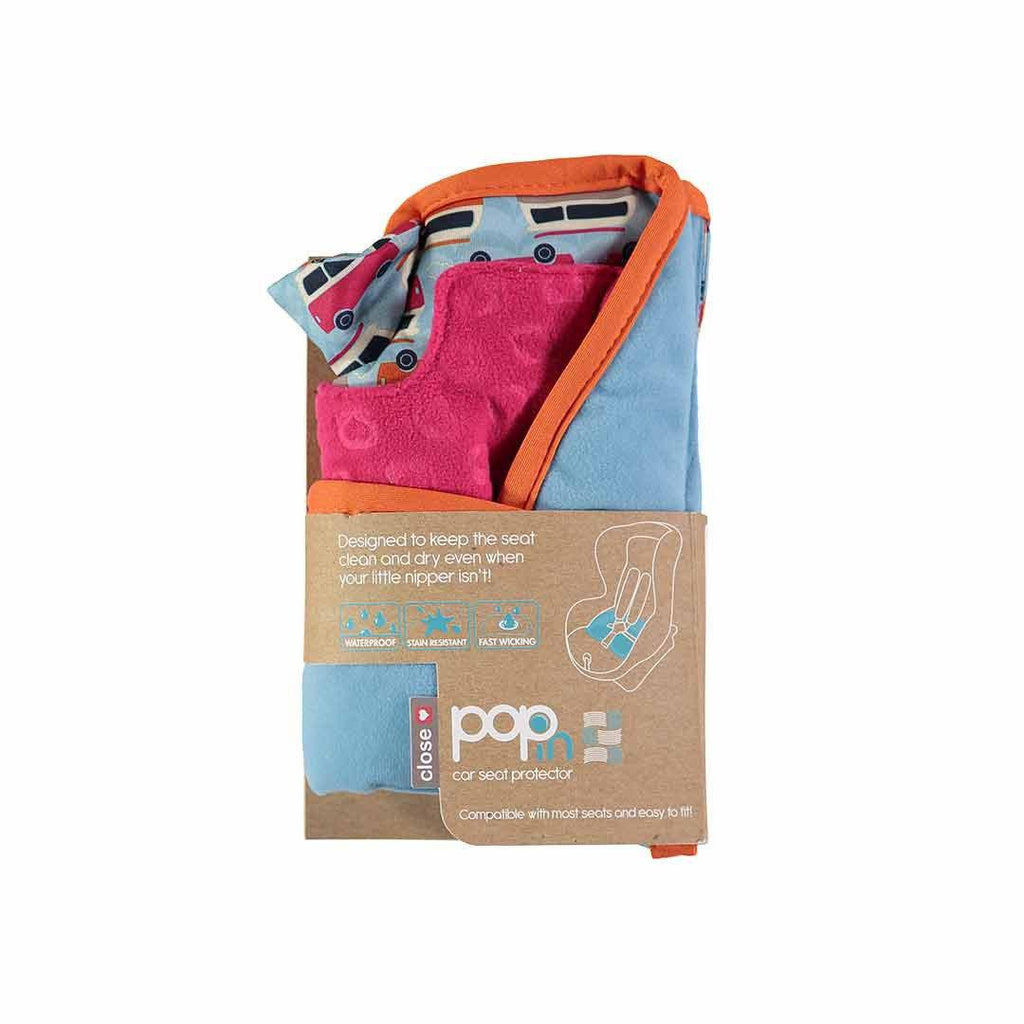 Close Car Seat Protector - Campervan Blue Packaging