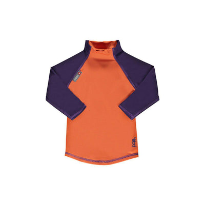 Close Long Sleeve Rash Vest - Orange/Purple-Swimwear- Natural Baby Shower