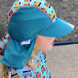 Close Pop-in Peaked Sun Hat - Rocket