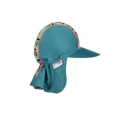 Close Pop-in Peaked Sun Hat - Campervan Green-Hats- Natural Baby Shower