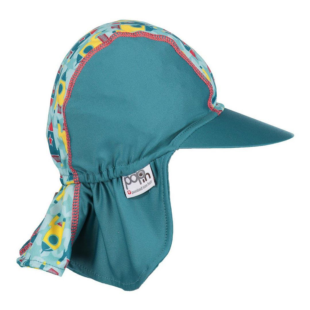 Close Pop-in Peaked Sun Hat - Rocket-Hats- Natural Baby Shower