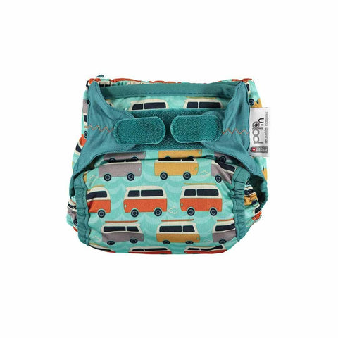 Close Pop-in V2 Bamboo Nappy - Campervan Green