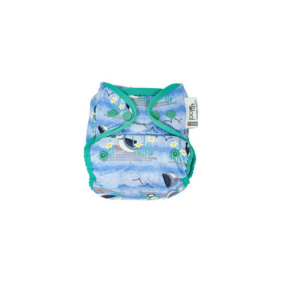 Close Popper Bamboo Nappy - Blue Puffin-Nappies-Blue Puffin- Natural Baby Shower