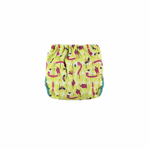 Close Single Bamboo Nappy - Flamingo-Nappies-Flamingo- Natural Baby Shower