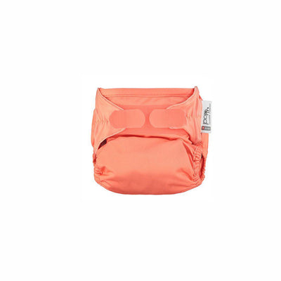 Close Single Bamboo Nappy - Plain - Coral-Nappies-Coral- Natural Baby Shower