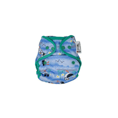 Close Single Popper Nappy Wrap - Blue Puffin-Nappy Wraps-Blue Puffin- Natural Baby Shower