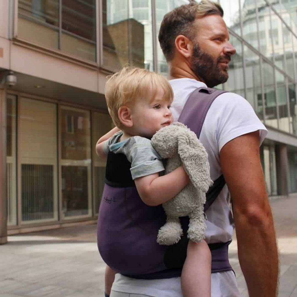 Close Caboo DXgo Baby Carrier - Plum Lifestyle