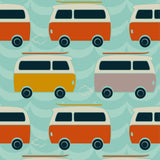 Close Pop-in V2 Bamboo Nappy - Campervan Green Print