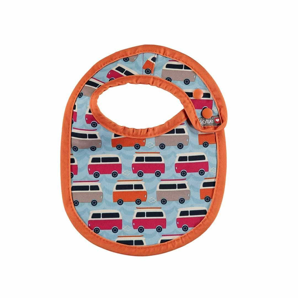 Close Pop-in Bib - Stage 1 - Campervan Blue-Bibs- Natural Baby Shower