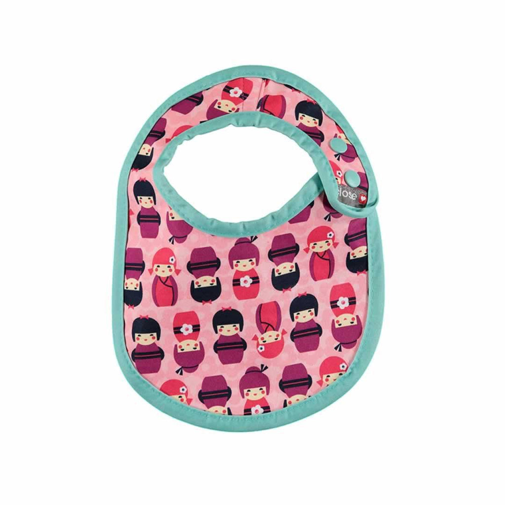 Close Pop-in Bib - Stage 1 - Kokeshi Doll - Bibs - Natural Baby Shower