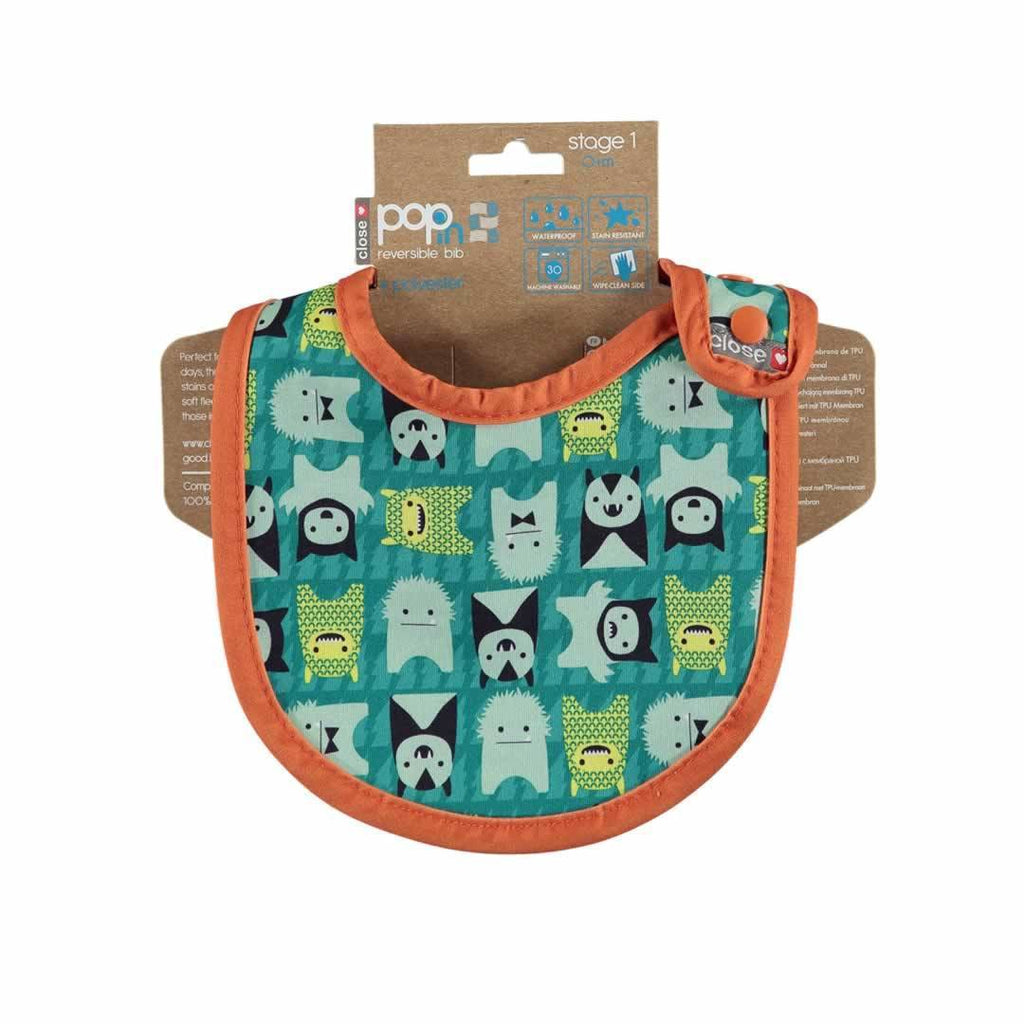 Close Pop-in Bib - Stage 1 - Monster Herman - Bibs - Natural Baby Shower