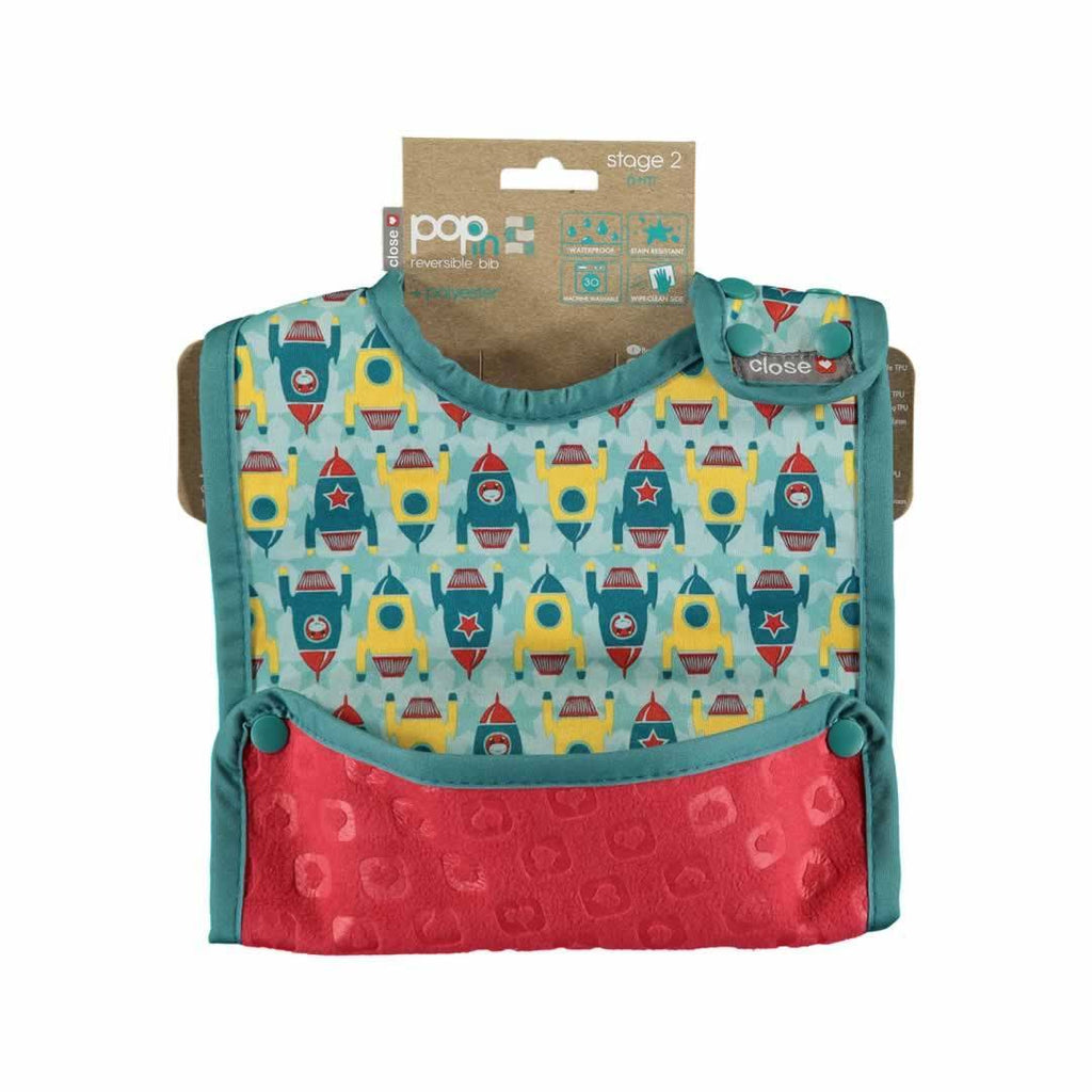 Close Pop-in Bib - Stage 2 - Rocket - Bibs - Natural Baby Shower