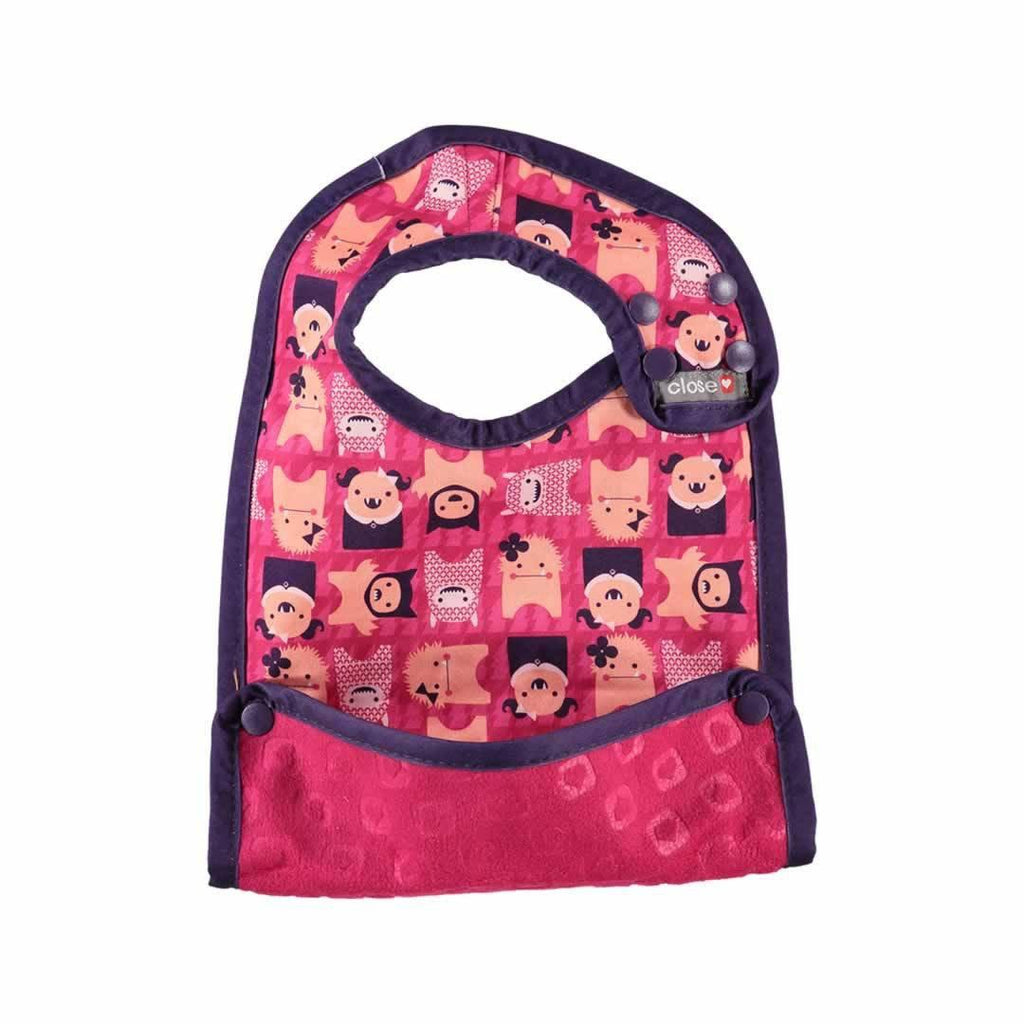 Close Pop-in Feeding Set - Edie Monster bib