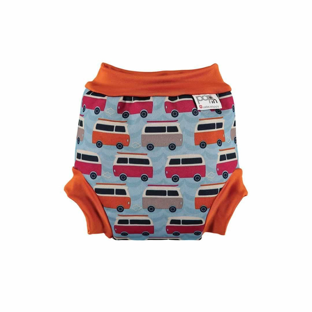 Close Pop-in Swim Nappy in Campervan Blue