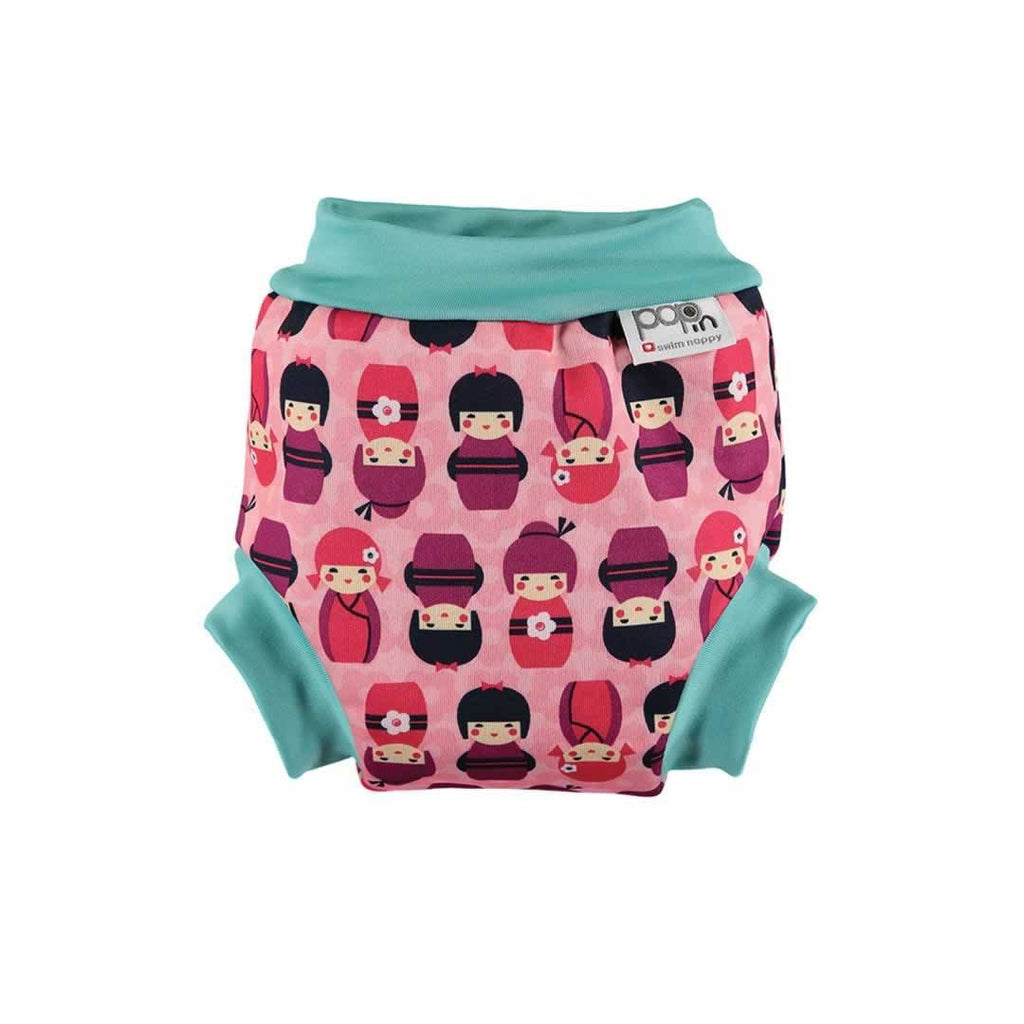 Close Pop-in Swim Nappy in Kokeshi Doll