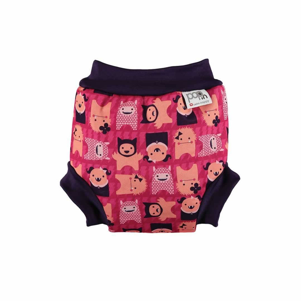 Close Pop-in Swim Nappy in Monster Edie