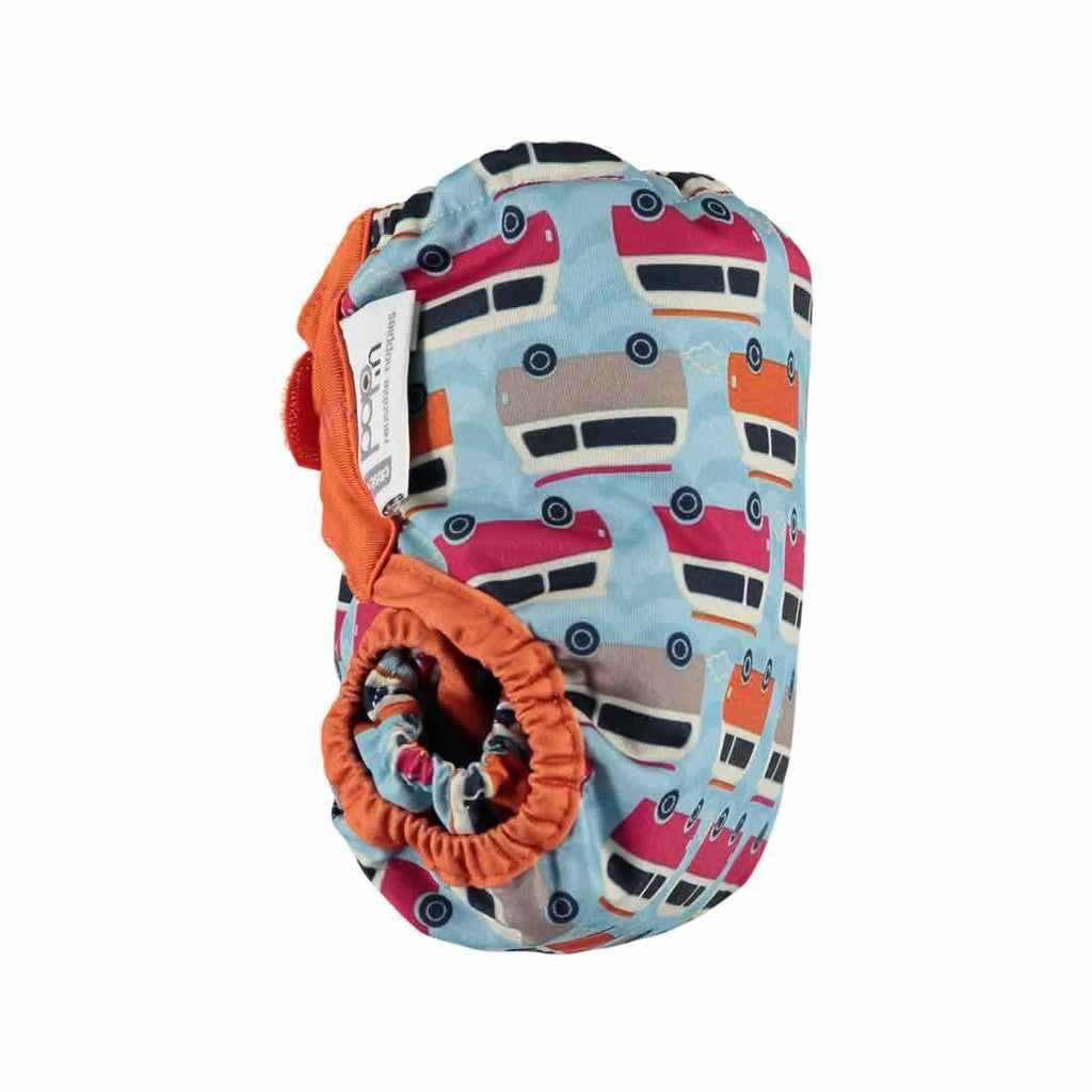 Close Pop-in V2 Bamboo Nappy Campervan Blue Side