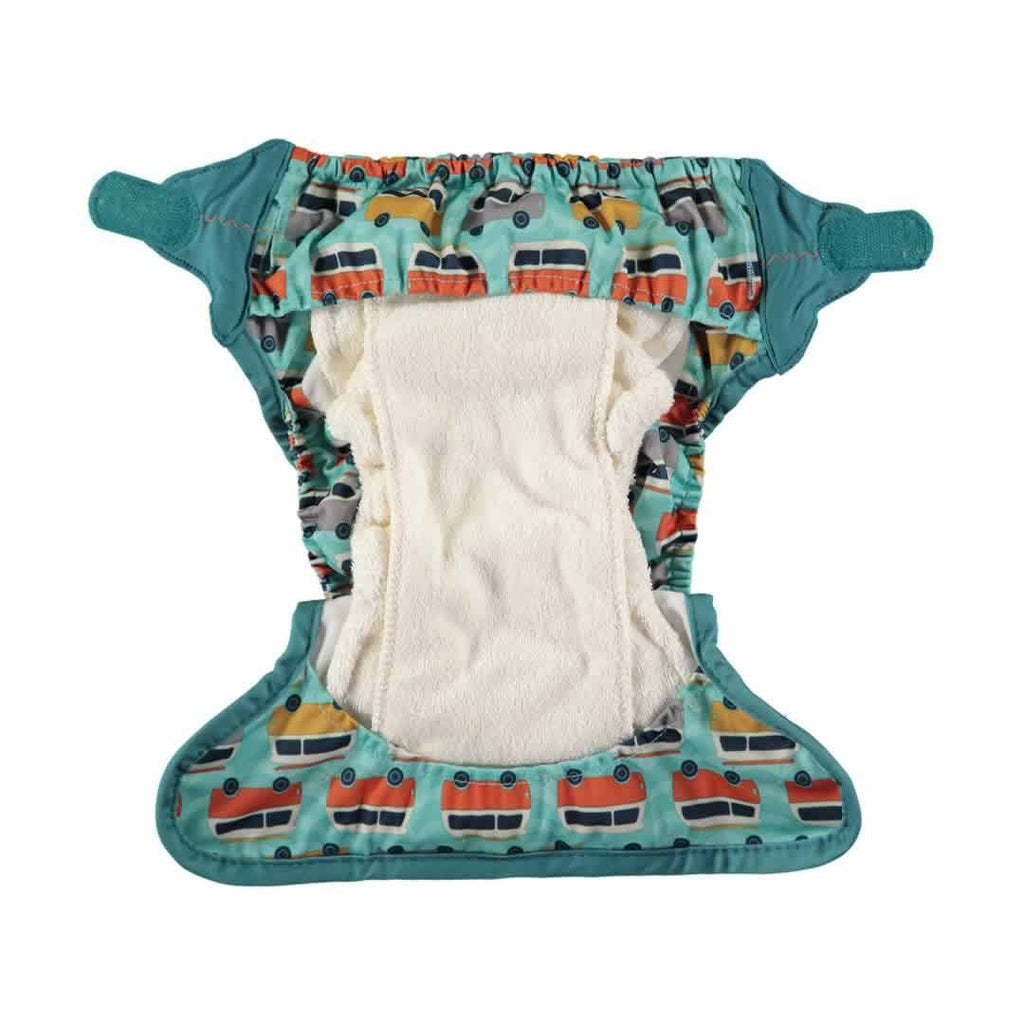 Close Pop-in V2 Bamboo Nappy Campervan Green Inside