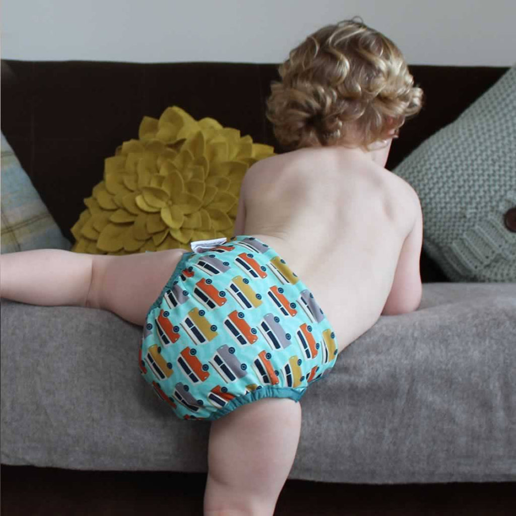 Close Pop-in V2 Bamboo Nappy - Campervan Green Lifestlye