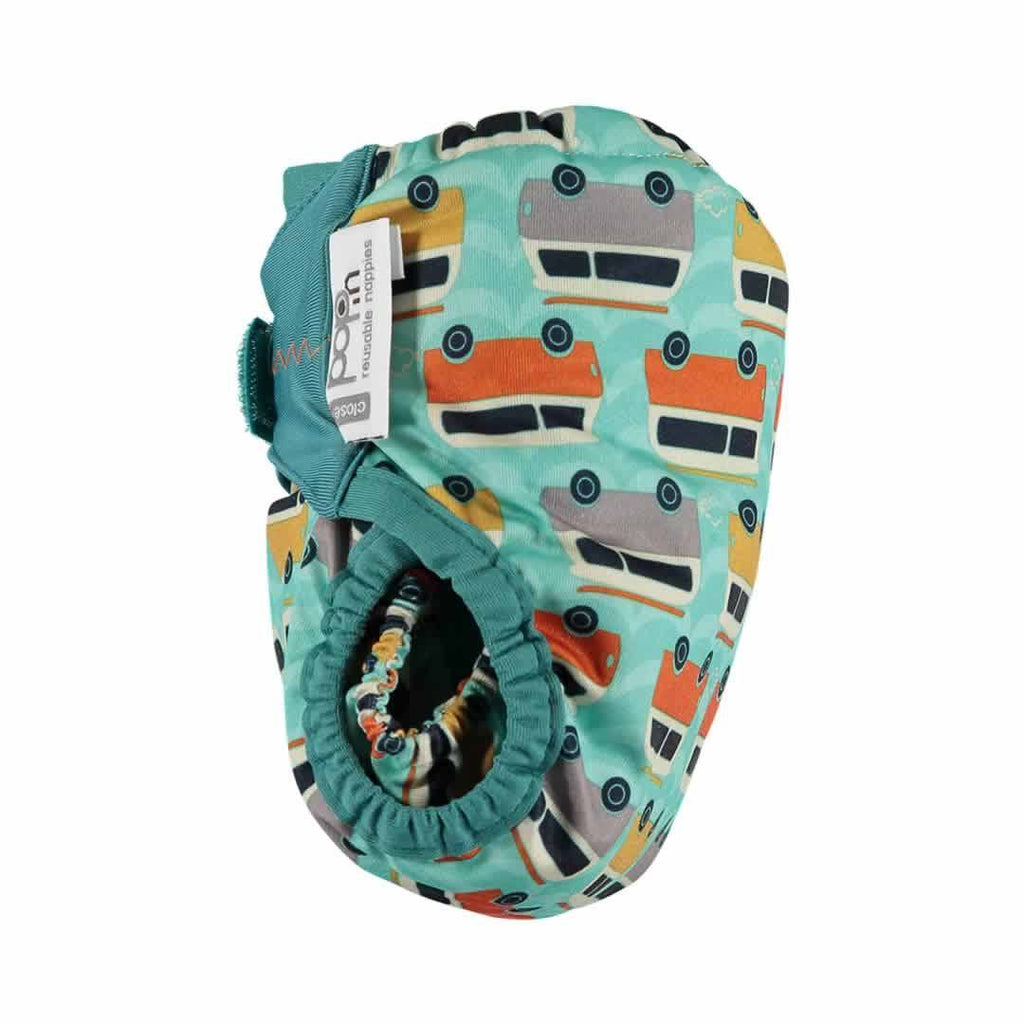 Close Pop-in V2 Bamboo Nappy Campervan Green Side