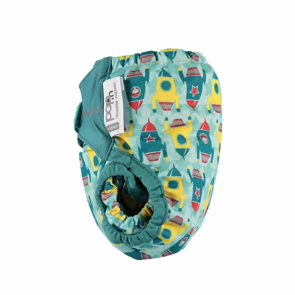 Close Pop-in V2 Bamboo Nappy Rocket Side