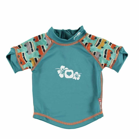 Close Rash Vest - Campervan Green - Bodies & Vests - Natural Baby Shower