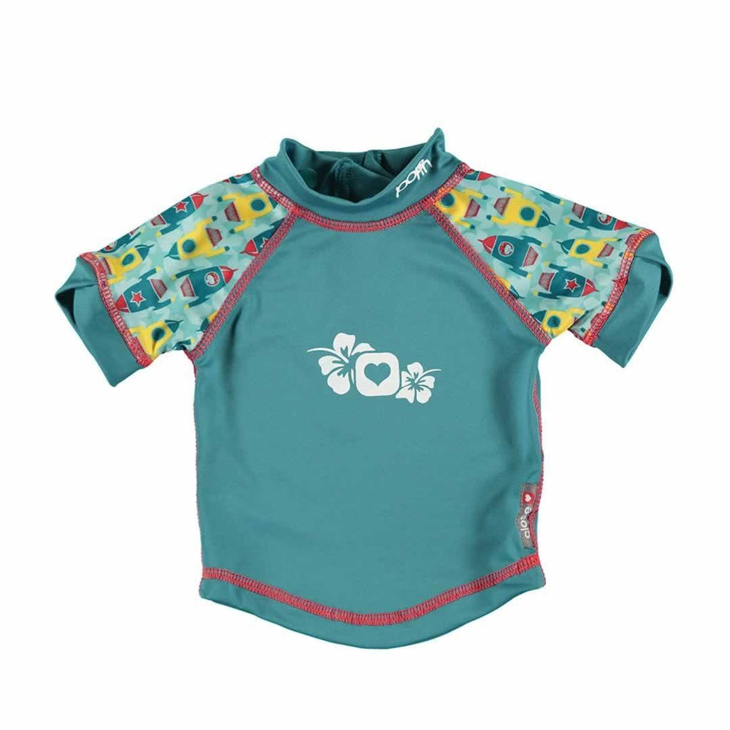 Close Rash Vest in Rocket