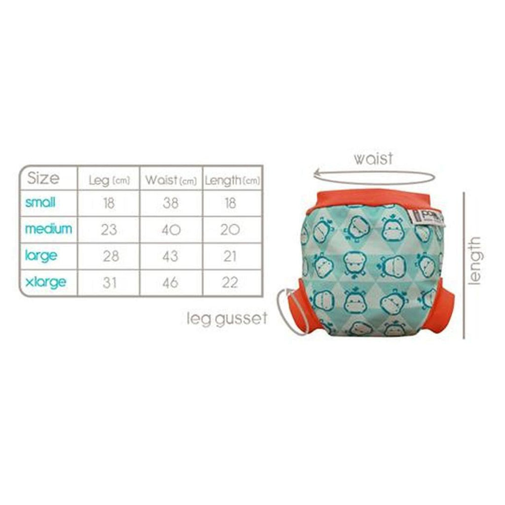 Close Pop-in Swim Nappy - Campervan Green Chart