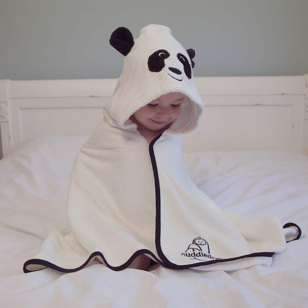 Cuddledry Cuddlepanda Toddler Bath Towel-Towels & Robes-Cuddlepanda-Toddler- Natural Baby Shower