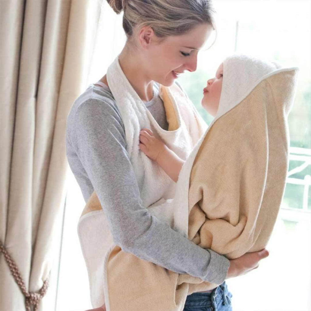 Cuddledry Original Baby Bath Towel - Oatmeal/Natural White 1