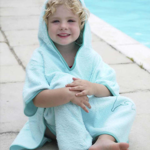 Cuddledry SPF50 Poncho Towel - Turquoise-Towels & Robes-Turquoise-Toddler- Natural Baby Shower