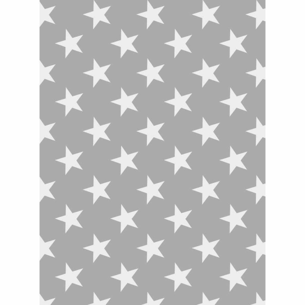 Cuddledry Original Baby Bath Towel - Grey Stars Print