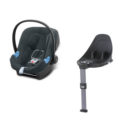 CYBEX Aton B i-Size Car Seat + Base M - Steel Grey-Car Seats- Natural Baby Shower