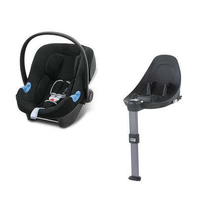 CYBEX Aton B i-Size Car Seat + Base M - Volcano Black-Car Seats- Natural Baby Shower