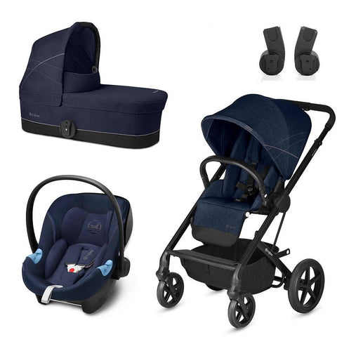 Cybex Balios S Travel System - Denim Blue-Stroller Bundles- Natural Baby Shower