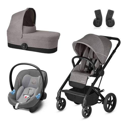 Cybex Balios S Travel System - Manhattan Grey-Stroller Bundles- Natural Baby Shower