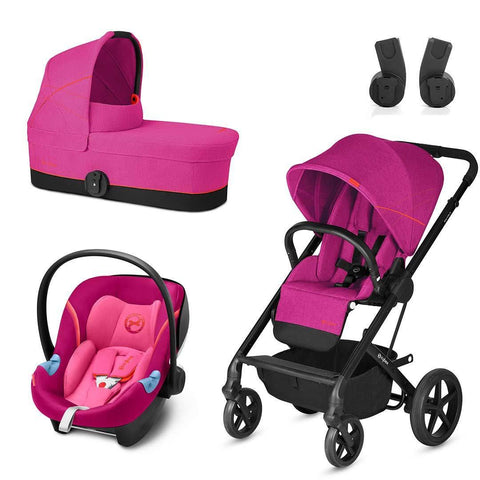 Cybex Balios S Travel System - Passion Pink-Stroller Bundles- Natural Baby Shower