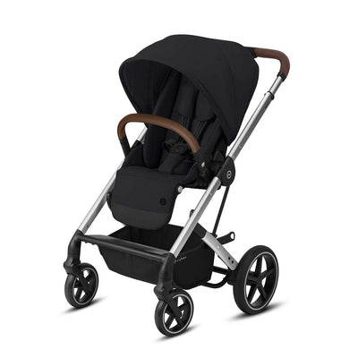 CYBEX Balios S Lux Pushchair - Deep Black & Silver-Strollers-None- Natural Baby Shower