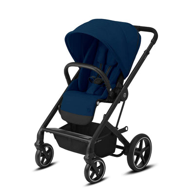 Cybex Balios S Lux Pushchair - Navy Blue & Black-Strollers- Natural Baby Shower