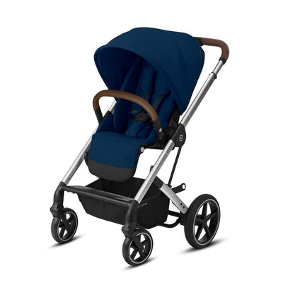 Cybex Balios S Lux Pushchair - Navy Blue & Silver-Strollers- Natural Baby Shower