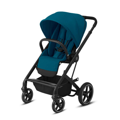 CYBEX Balios S Lux Pushchair - River Blue & Black-Strollers-None- Natural Baby Shower