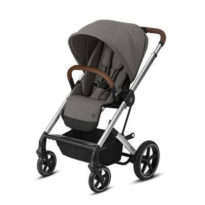 CYBEX Balios S Lux Pushchair - Soho Grey & Silver-Strollers-None- Natural Baby Shower
