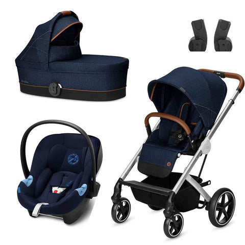 Cybex Balios S Travel System - Denim - Denim Blue-Travel Systems- Natural Baby Shower