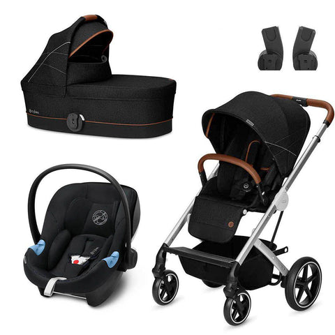 Cybex Balios S Travel System - Denim - Lavastone Black-Travel Systems- Natural Baby Shower