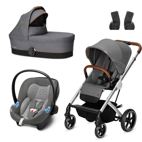Cybex Balios S Travel System - Denim - Manhattan Grey-Travel Systems- Natural Baby Shower
