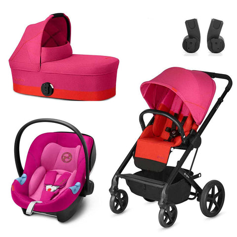 Cybex Balios S Travel System - Fancy Pink-Travel Systems- Natural Baby Shower