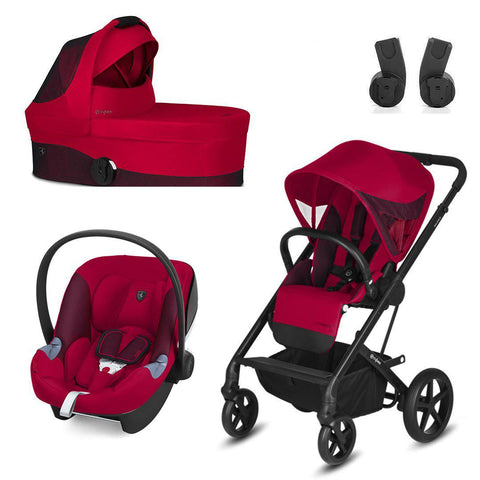 Cybex Balios S Travel System - Scuderia Ferrari - Racing Red-Travel Systems- Natural Baby Shower