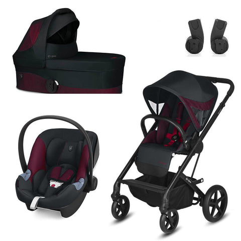 Cybex Balios S Travel System - Scuderia Ferrari - Victory Black-Travel Systems- Natural Baby Shower