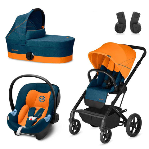 Cybex Balios S Travel System - Tropical Blue-Travel Systems- Natural Baby Shower