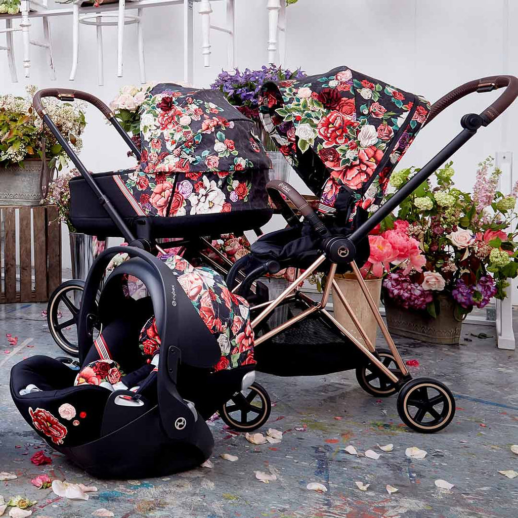 Cybex Cloud Z i-Size Car Seat - Spring Blossom - Dark-Car Seats- Natural Baby Shower